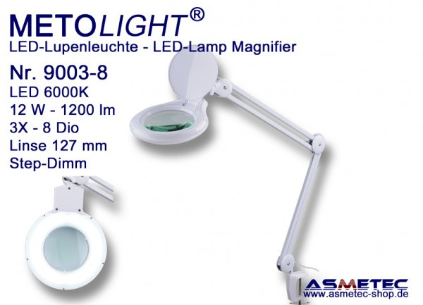 Metolight LED Lamp Magnifier 9003