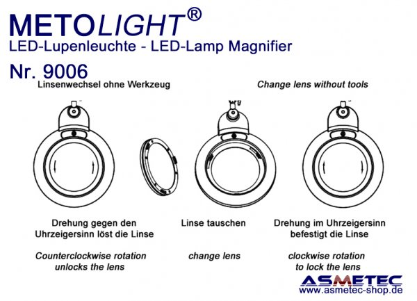 Metolight LED Lamp Magnifier 9006