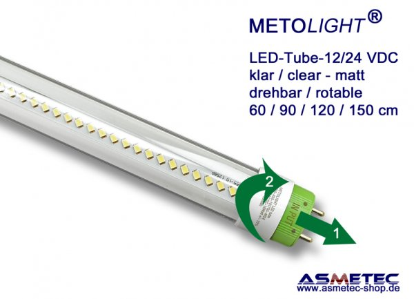 METOLIGHT LED-tube SCE-12_24 VDC, 10 Watt, clear, A+ - wwww.asmetec-shop.de