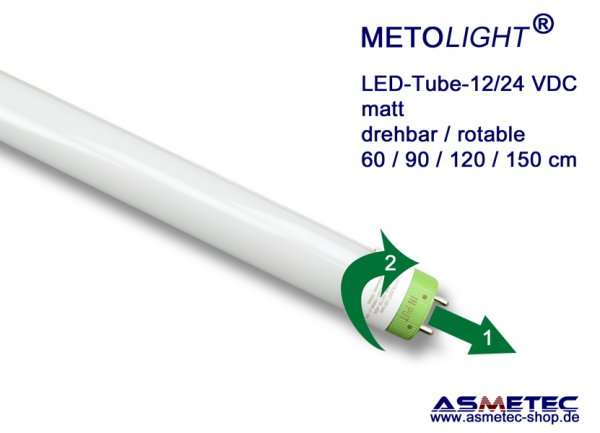 METOLIGHT LED-Röhre SCE-RC 150 cm, 25 Watt, 12_24 VDC, matt, A+ - www.asmetec-shop.de