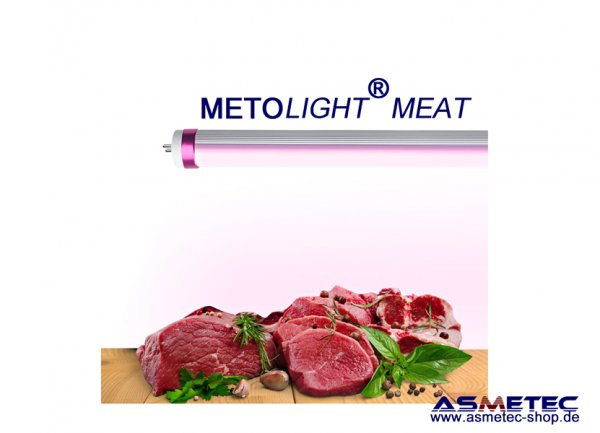 METOLIGHT LED-Tube Meat for pork meat desk - www.asmetec.shop.de