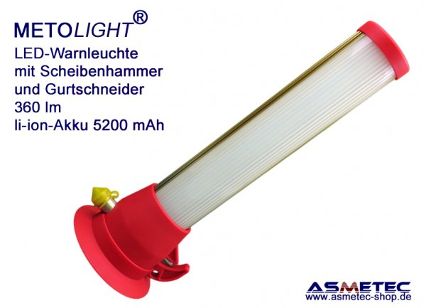 METOLIGHT LED Warning Light with safety hammer and belt cutter