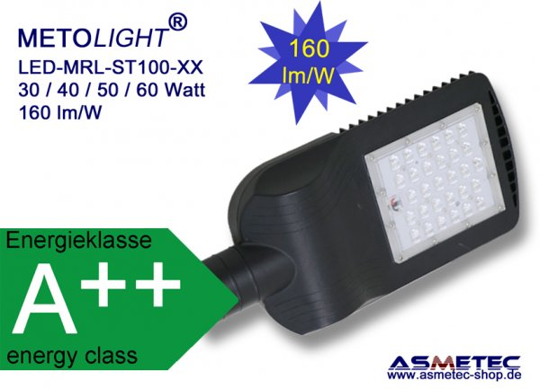 Metolight LED-Street light MRL-ST10040, 40 Watt - www.asmetec-shop.de