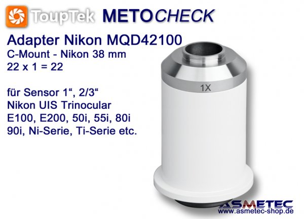 Nikon TV-Adapter MQD100, adapter C-Mount - www.asmetec-shop.de