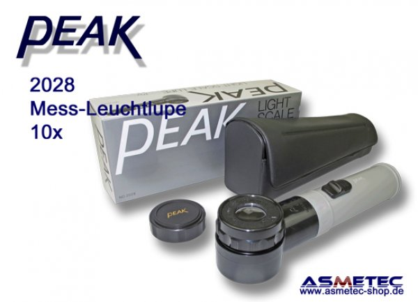 PEAK-2028 Leuchtlupe, PEAK optics, PEAK-Lupe 10x www.asmetec-shop.de