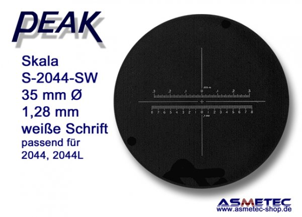 PEAK-2044 white scale for Zoom Lupe 8-16x - www.asmetec-shop.de
