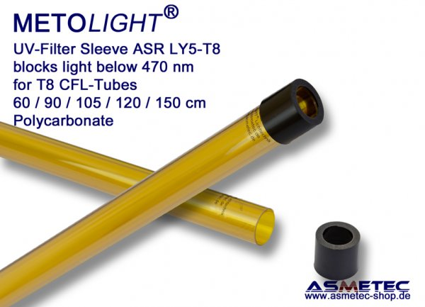 Metolight ASR-LY5-UV-Filterröhre T8, gelb, 470 nm - www.asmetec-shop.de