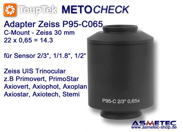 Zeiss TV-Adapter P95-C065, adapter C-Mount - www.asmetec-shop.de