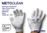 "METOCLEAN Clean room gloves ""Liner"", size L"