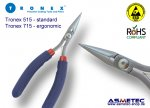 Tronex 515 - Chain Nose plier, short, very fine tips